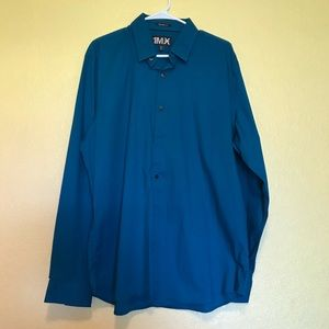 Express 1MX Long Sleeve Dress Shirt